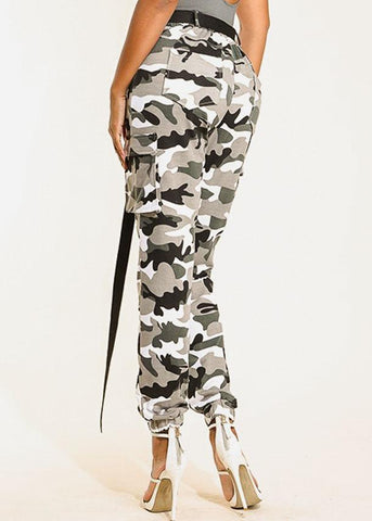 Image of Camouflage Print Pants
