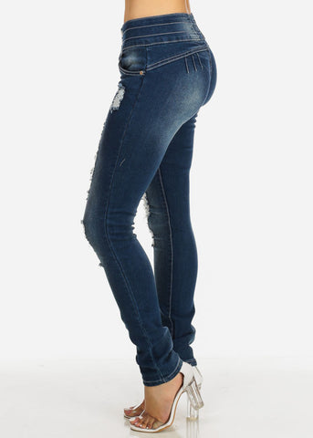 Image of Colombian Ripped Skinny Jeans