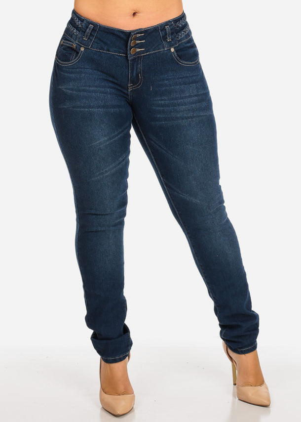 Butt Lifting Braided Jeans
