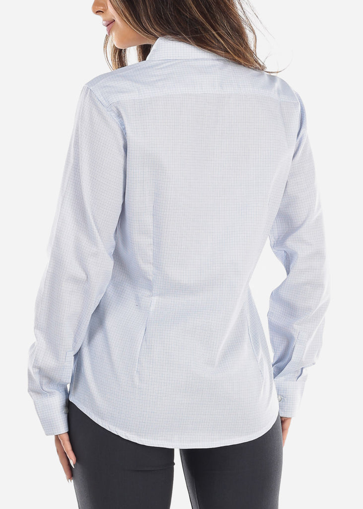 Light Blue Pincheck Button Down Shirt