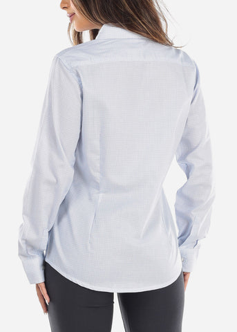 Image of Light Blue Pincheck Button Down Shirt