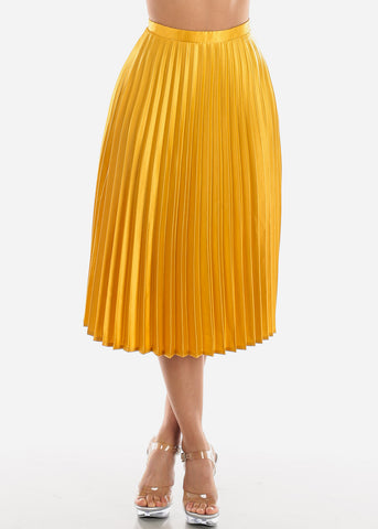 Image of Pleated Gold Skirt