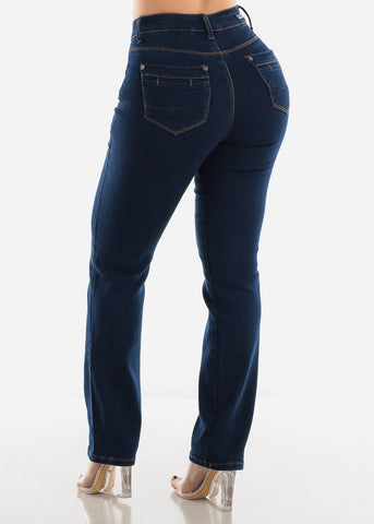 Image of Bootcut Dark Wash Denim Jeans