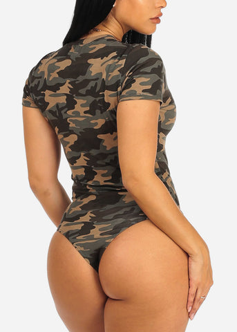 Image of Camouflage Print Bodysuit