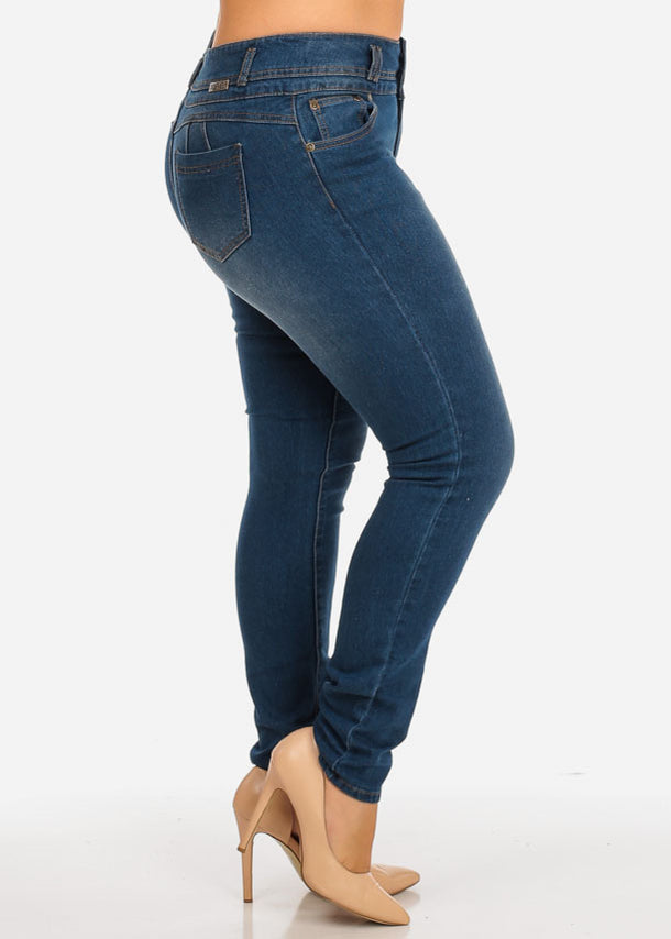 Med Wash Butt Lifting Jeans