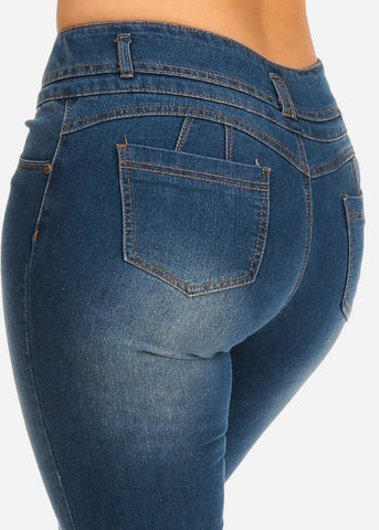 Image of Med Wash Butt Lifting Jeans