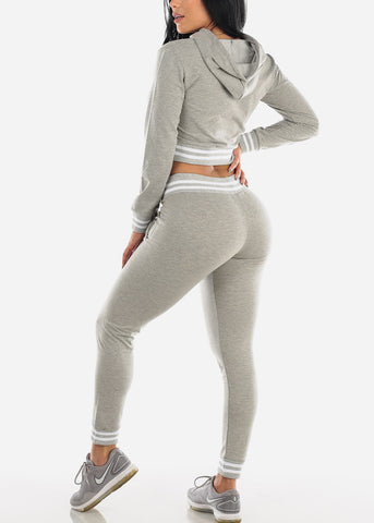 Image of Grey Hoodie & Jogger Pants (2 PCE SET)