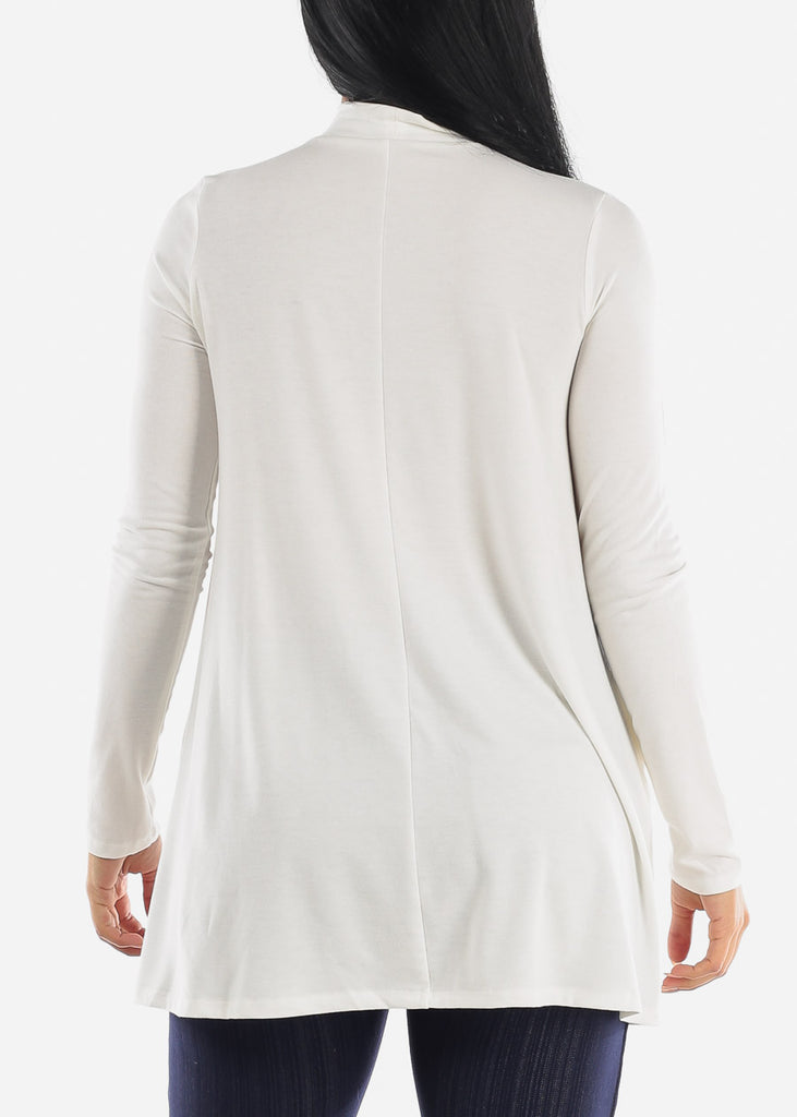 Ivory Mock Neck Hip Long Sweater