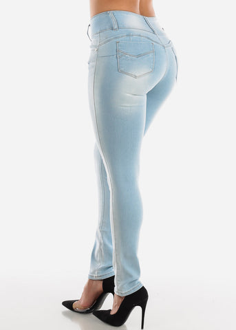 Image of Levanta Cola Light Wash Skinny Jeans
