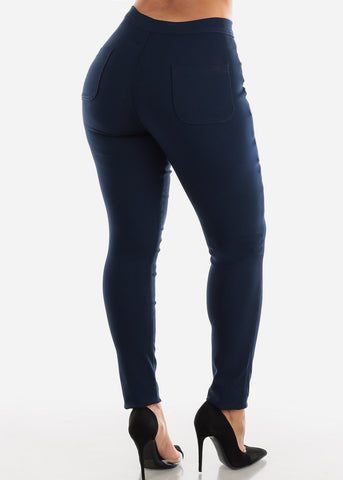 Image of High Rise Navy Jegging Skinny Pants