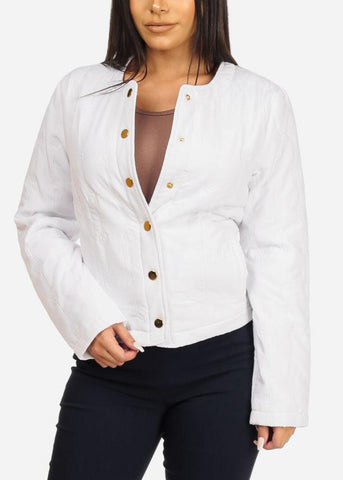 White Button Up Jacket