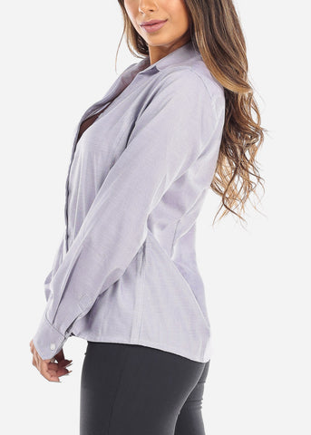 Image of Purple Button Down Shirt
