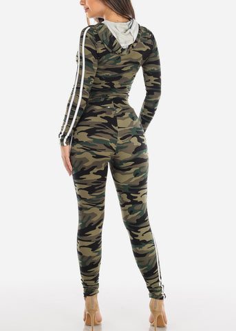 Image of Black Camouflage Top & Pants (2 PCE SET)