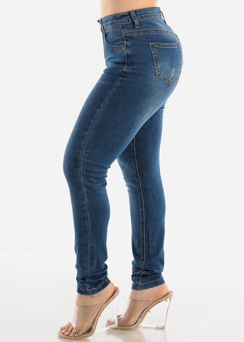 Image of Casual Dark Blue Jeans