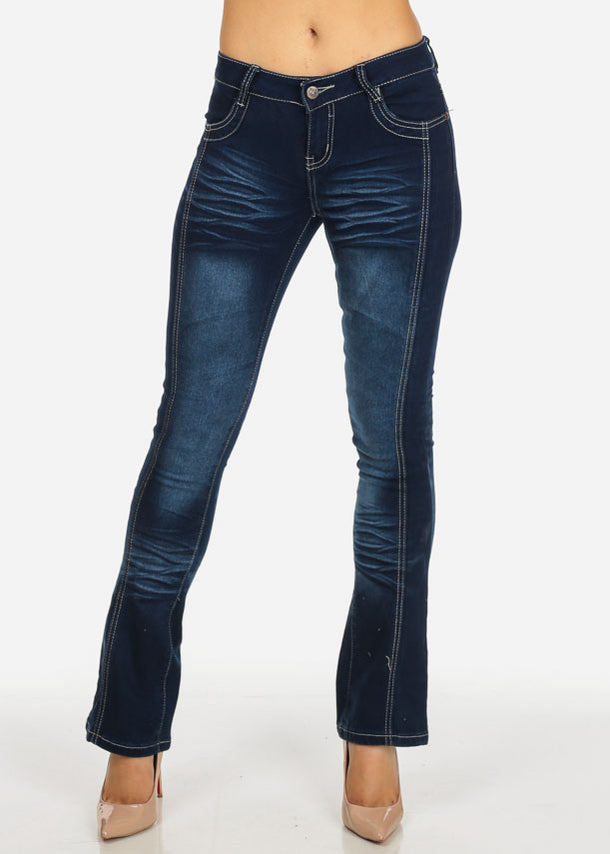 Dark Wash Straight Leg Jeans