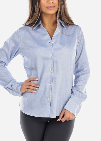 Image of Blue Button Down Business Shirt