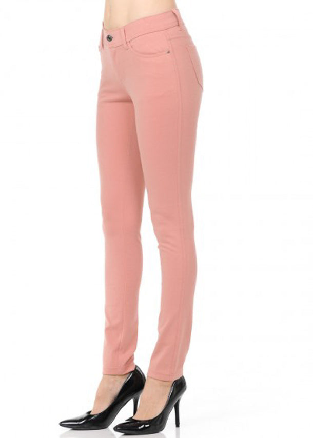 Stretchy Mauve Skinny Pants