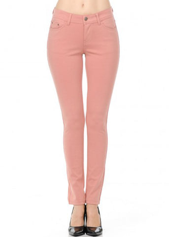 Image of Stretchy Mauve Skinny Pants