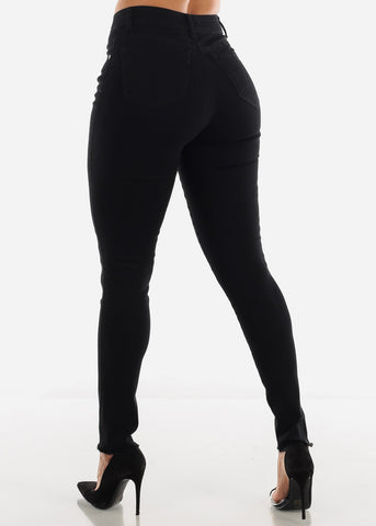 Image of High Waist Black Jeans