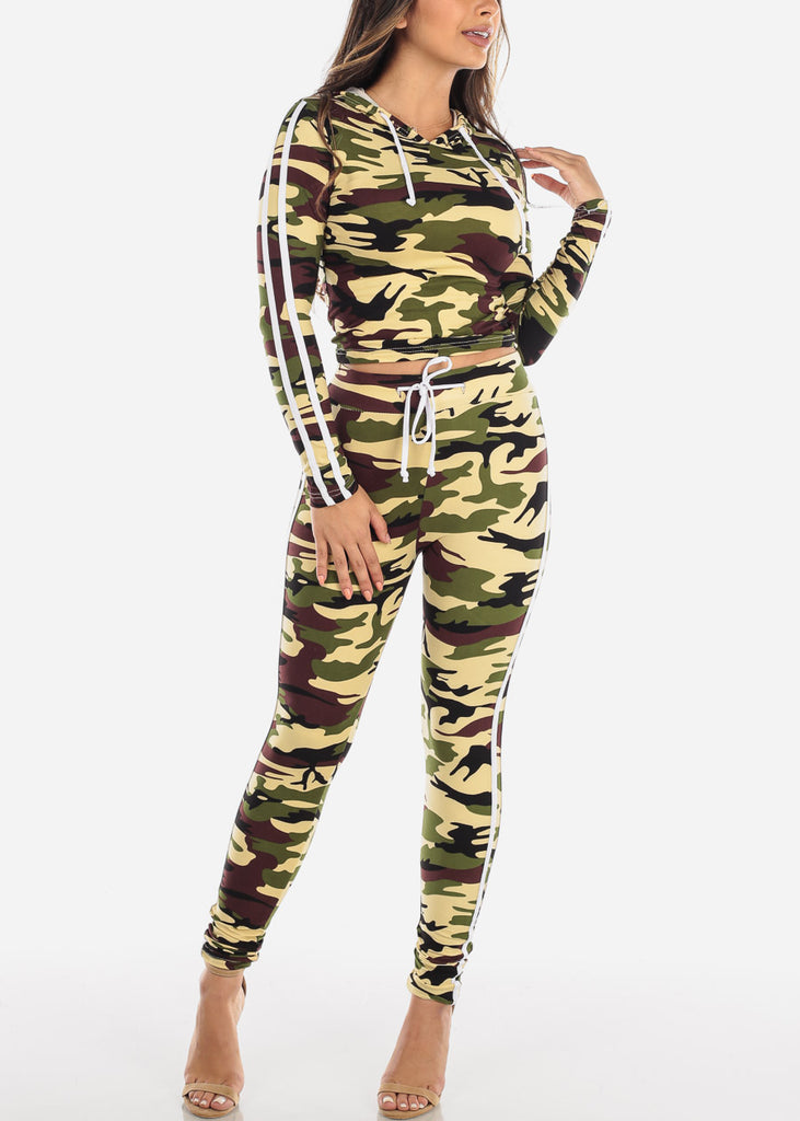 Discount Brown Camouflage Top & Pants