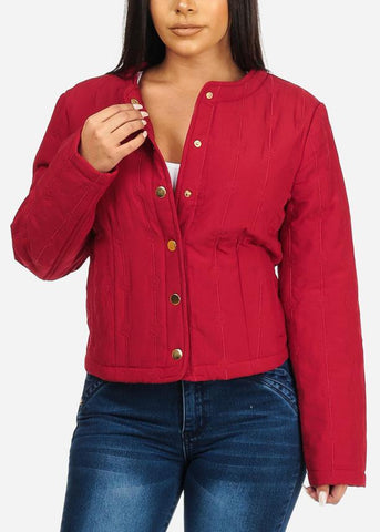 Image of Red Button Up Jacket