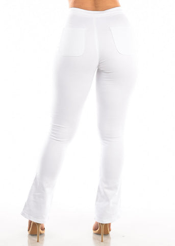 Image of High Rise White Wide Legged Jeans