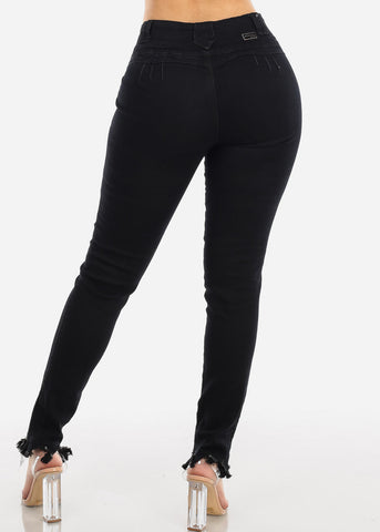 Butt Lifting Black Skinny Jeans