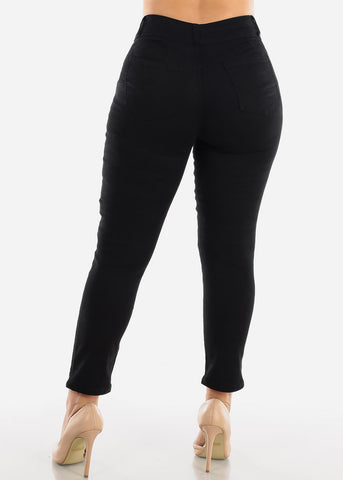 Image of Mid Rise Black Ankle Jeans