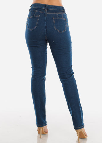 Image of Dark Wash Straight Leg Jeans