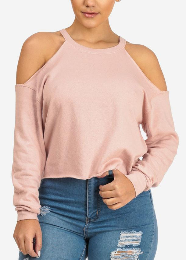 Cold Shoulder Rose Top