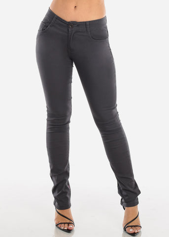 Image of Straight Leg Grey Skinny Jeans