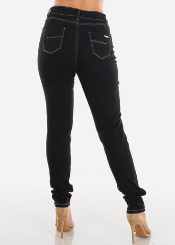 Image of Butt Lifting High Rise Black Jeans
