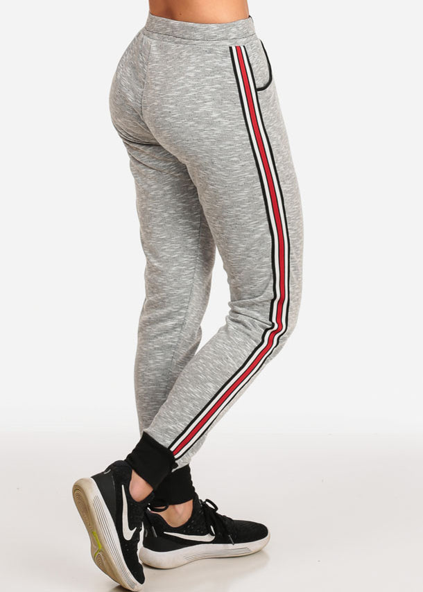 Light Grey Heather Jogger Pants