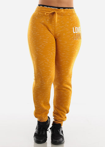 Image of Mustard Zip Up Hoodie & Jogger Sweatpants (2 PCE SET)