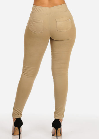 Image of Slim Fit Elastic Skinny Pants