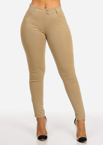 Slim Fit Elastic Skinny Pants