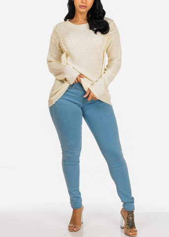 Image of Light Blue High Rise Butt Lifting Skinny Jeans