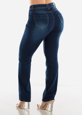 Image of Dark Wash Bootcut Denim Jeans