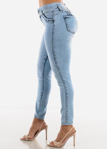 High Waist Levanta Cola Acid Jeans