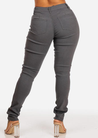 Grey Butt Lifting Jeans