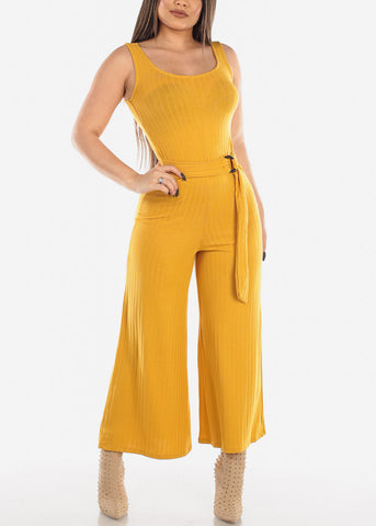 Mustard Jumpsuit Wide Legged