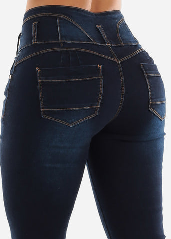 Butt Lifting Dark Jeans