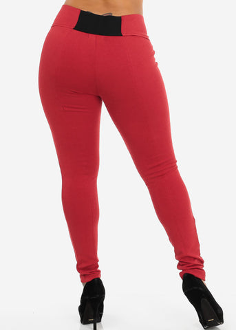Slim Fit Pants (Red)