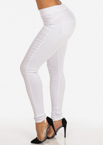 Stylish Trendy Stretchy Going Out Night Out Sexy Classic Basic White Skinny Pants