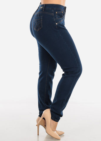 Image of Plus Size Dark Wash Skinny Jeans