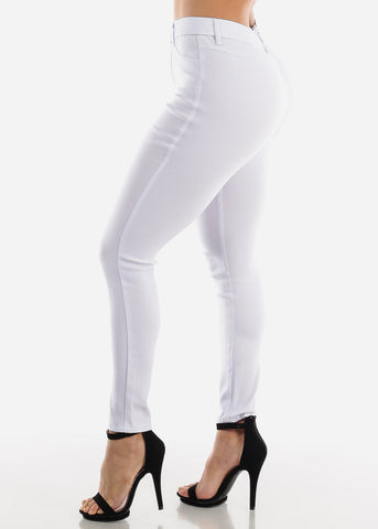 Image of White Jegging Skinny Pants