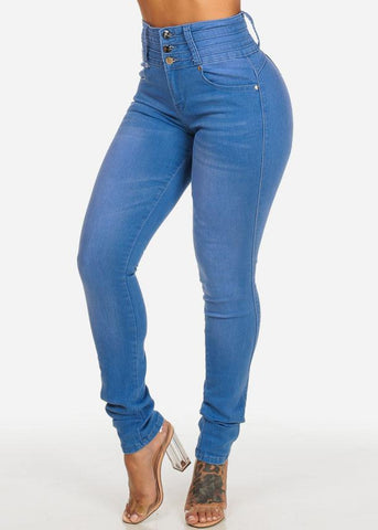 Affordable High Waisted Colombian Butt Lifting Med Jeans