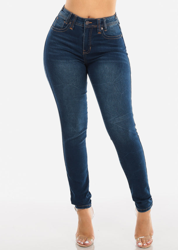 High Waisted Levanta Cola Dark Wash Skinny Jeans