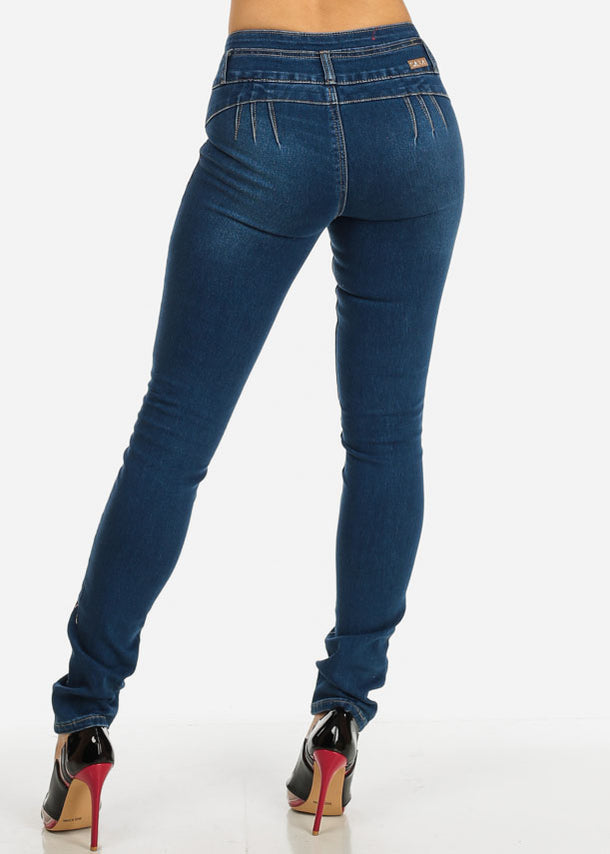 Distressed Low Rise Skinny Jeans