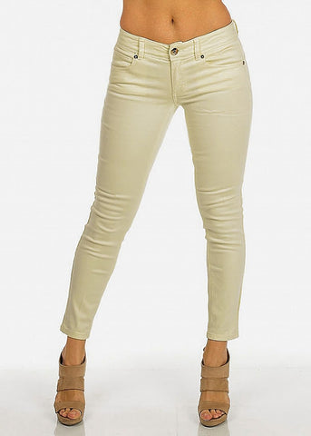 Image of Lime Cropped Skinny Pants
